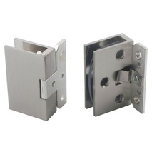2pcs Cabinet Wall to Glass Door Hinge Clamps Fit 8-10mm Shower Glass Hinge Clips(China)