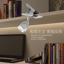A1 Led clip small lamp dormitory reading eye book desk lamp bedroom bedside mini plug energy-saving lamp SD108(China)