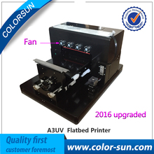 New A3 size phone case printer/mobile phone cover printing machine LED lamp UV flatbed printer