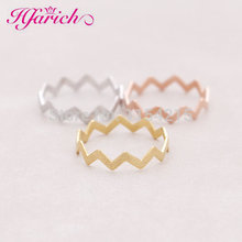 2016 Hot Fashion Vintage Handmade Gold,Silver,Rose gold Filled Zig Zag Band Thumb Ring EY-R032