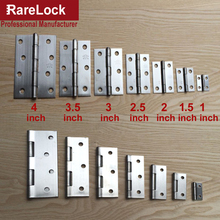 Rarelock Christmas Supplier Furniture Hinge 2pcs/bag SUS201 Stainless for Cabinet Box Furniture Hardware Home DIY h(China)
