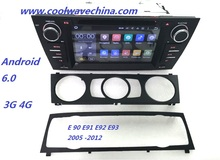 car radio dvd gps android 6.0 Quad core For BMW E90 e91 e92 e93 (2005-2012) with Bluetooth Phonelink BT 1080P Ipod 4G(China)