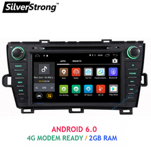 Free shipping 8inch 2GB RAM Android car dvd for Toyota Prius dvd Left hand Radio 4G modem WIFI prius android