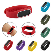 Buy 170-220mm Replacement Softness Silica Gel Wristband Band Strap Xiaomi Mi Band 2 Bracelet sturdy durable comfortable for $1.49 in AliExpress store