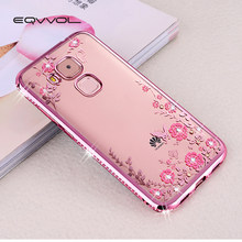 Eqvvol Luxury Diamond Flower Pattern Phone Case For Huawei P20 P9 P8 Lite  Plus Glitter Cases For Mate 9 8 7 Honor 8 9 Lite Shell 1c22a16c520d
