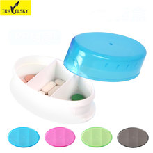 Home Portable Mini Small Medicine Boxes PP Eco-Friendly Translucent Multifunction Moisture-proof Dust Packing Pill Storage Box(China)