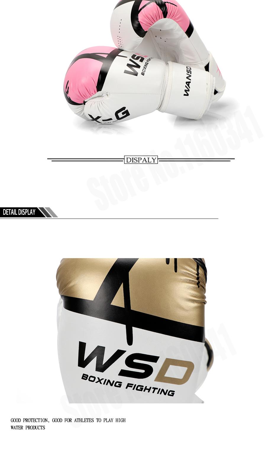 18 New Pink/Gold Men/Women Boxing Fitness Gloves for Sandbag Punch Training MMA Muay Thai Sanda Karate Mitt Equipment 6