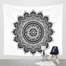 Home TapestryTapestry Printed Bohemia Tapestry Wall Hanging For Wall Decoration Hippie Tapestry Beach Towel Yoga Mat(China)
