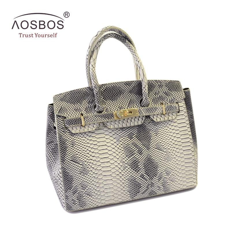Aosbos Women Shoulder Bag Fashion Crocodile Pattern PU Leather Handbags Brand Snakeskin Hasp Drawstring Messenger Bags<br>