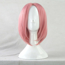 Naruto Haruno Sakura Cherry Pink Styled Wig Heat Resistent Synthetic Hair Anime Cosplay Wigs