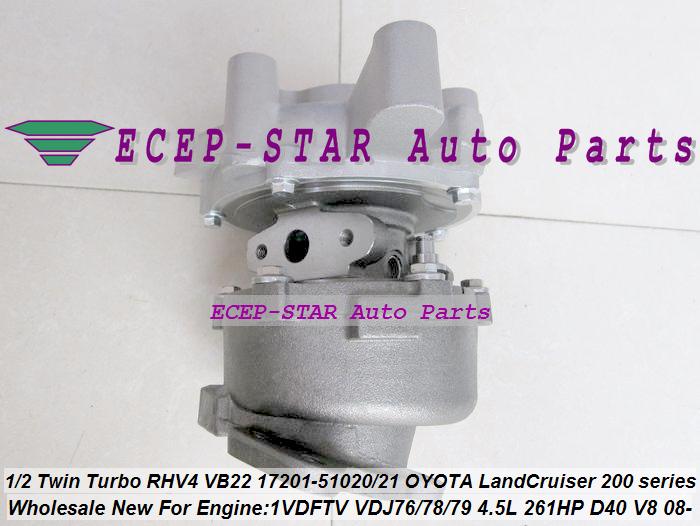 1pc Twin Turbo RHV4 VB22 17201-51020 17201-51021 Turbo For TOYOTA Land Cruiser 200 series D-40 V8 1VD-FTV VDJ76 VDJ78 VDJ79 4.5L (2)