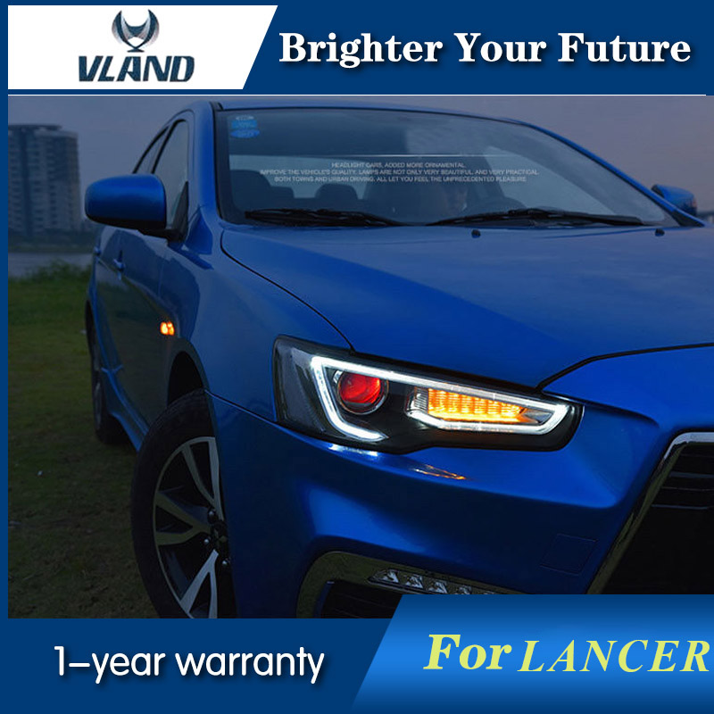 Vland LED Headlight Front Head Light For Mitsubish...