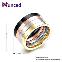 US Size 7-10 4 piece/one set Men Prom Multilayer Gold Rose Color Male Rings Golden Stainless Steel Punk Ring Jewelry