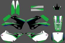 0223 New Style TEAM GRAPHICS&BACKGROUNDS DECALS STICKERS KitsFit for Kawasaki KX125 KX250 1999 2000 2001 2002 KX 125 250