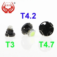 KEIN 1PCS Auto car led T3 T4.2 T4.7 1SMD Instrument dashboard Lights Dashboard Warning Indicator Lamp Bulb Lights 12V white red