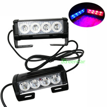 1set Car Police Strobe Flash Light Auto Roof Grill Warning Light 24W High Power Caution Lamp