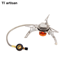Tiartisan Gas Stove Portable Outdoor Picnic Gas Stove Camping Stainless Steel Foldable Split Stove WS029