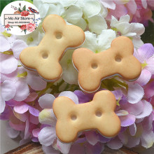 dog bone cookies 10PCS 16x20mm Resin Flatback Cabochon Miniature Food Art Supply Decoration Charm Craft