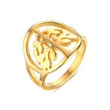 Stainless Steel Round Ring Tree of Life Simple New Fashion Trendy Wedding Rings for Women Jewelry USA Size 6 to 9(China)