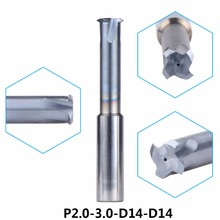 Tungsten Carbide Alloy Single Teeth Thread Milling CutterP2.0-3.0-D14-D14 threading end mill single tooth For Metric P2.0-3.0mm(China)