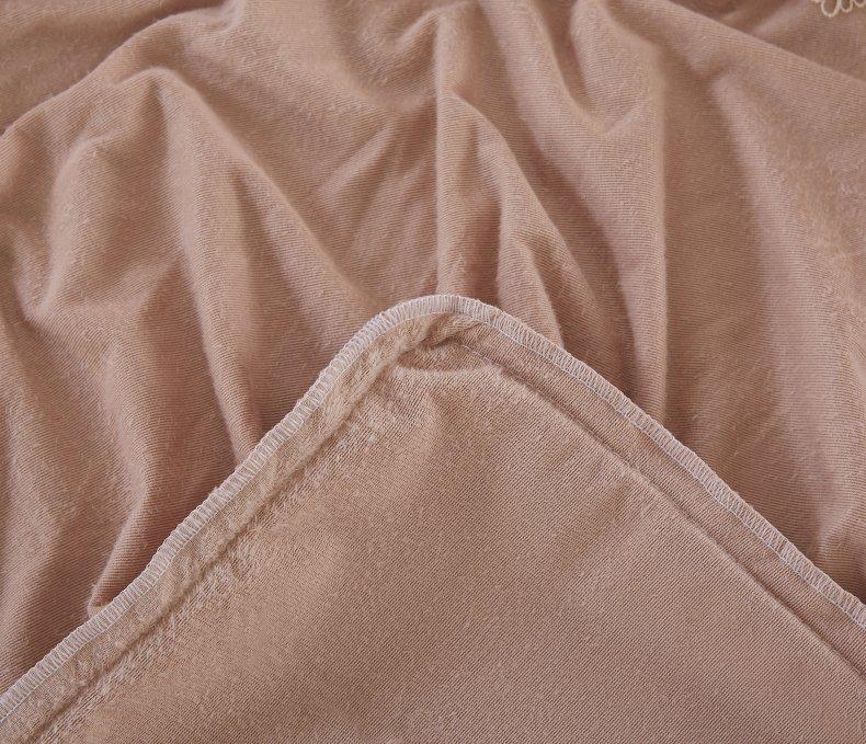 3Pcs Fleece Bed Skirt Set W/ Pillowcases, Mattress Protective Cover 53