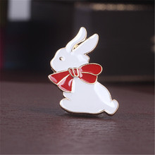 Japanese cartoon design star staff uniforms of bird head crest badge brooch brooch rabbit fashion lady presents a brooch