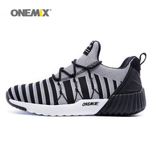 ONEMIX New Men's Running Shoes Breathable Boy Weaving Sport Sneakers 2017 Unisex Shoes Increasing height Women Jogging Shoes