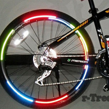 Bicycle Stickers Bicycle reflector Fluorescent MTB Bike Cycling Wheel Rim Reflective Stickers Decal Accessories PA0059