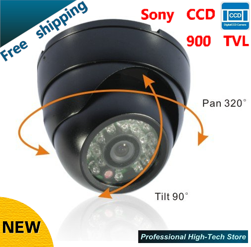 Free shipping Hot selling Color Night Vision Surveillance CCTV Camera Indoor HD 900TVL Security  Dome camera with 24 Leds<br><br>Aliexpress