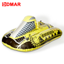 "DMAR 100cm 40"" Inflatable Racing Snow Tube Skiing Board With Handle Sled Snow tire Slippery Grass Sand For Adults Kids Float(China)"