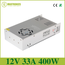 DC12V 33A 400W Regulated Switching Power Supply Driver Transformers For CCTV camera LED Strip Lights Tape Module Free shipping(China)