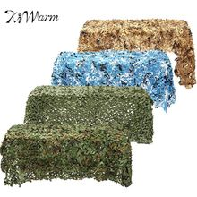 KiWarm 4m*2m Outdoor Hunting Woodland Camo Net Camping Games Military Camouflage Netting Mesh Garden Car Covers 4 Colors