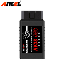 Ancel OBD2 Diagnostic Tool ELM327 WIFI Bluetooth V1.5 Supports Android/iOS With PIC18F25K80 ELM 327 Diesel Cars Code Scanner(China)
