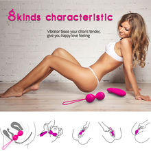 Female Kegel Balls Vaginal Tight Exercise Vibrating Eggs Remote Control Jump Eggs Waterproof Ben Wa Ball For Women Sex Product(China)