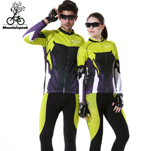 2016 New Arrival Autumn Men&Women Long Sleeve Cycling Jerseys Suits MTB Road Bike Riding Clothing Sports Jersey Coats Pants Sets(China)