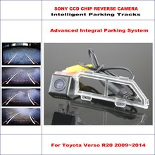 860 Pixels Car Rear Back Up Camera For Toyota Verso R20 Toyota SportsVan 2009~2014 Rearview Parking Dynamic Guidance Tragectory