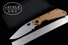 JUFULE New made SMF TC4 Titanium handle D2 blade ball bearing Folding hunt camping outdoor Tactical multi EDC Tool kitchen knife
