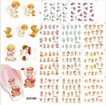 11 Designs In 1 Angel Goddess Water Transfer Decals Nail Stickers Foil Polish Wraps DIY Stylish Decorations Tool JIBLE1555-1565