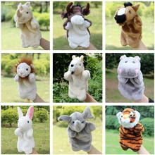 2016 Kids Interactive Toys Plush Puppet Kangaroo Horse Tiger Hand Puppet Plush Doll Toys For Kids Baby Birthday Christmas Gifts