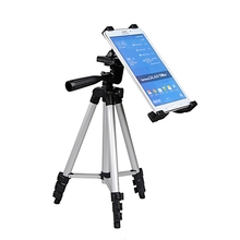 New Retractable Tripod Mount Stand For iPad Tablet PC Camera Light Portable Flexible Tablet Tripod Holder Stand For Mobile Phone(China)