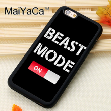 Beast Mode Fitness Gym Printed Soft Rubber Mobile Phone Cases For iPhone 6 6S Plus 7 7 Plus 5 5S 5C SE 4 4S Cover Skin Shell