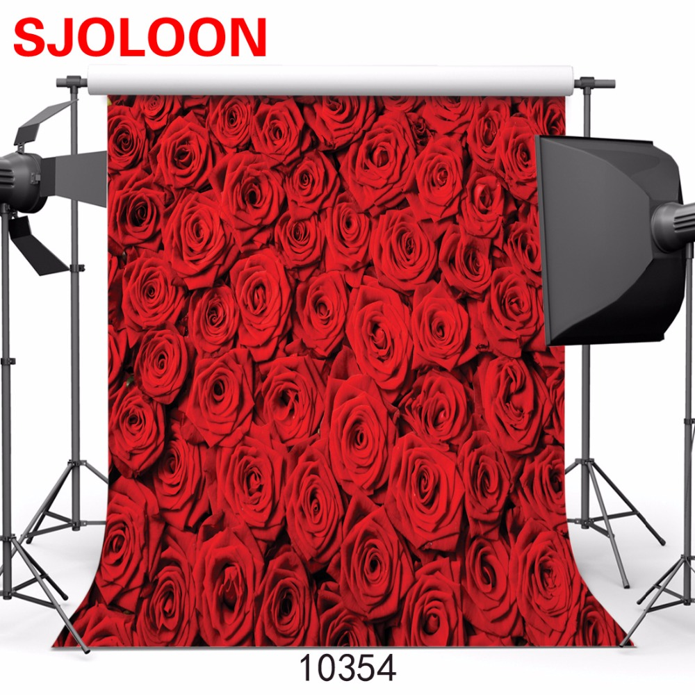 Valentines day photo background Red rose photography background Fond studio photo vinyle Backgrounds for photo studio 3x3M <br><br>Aliexpress