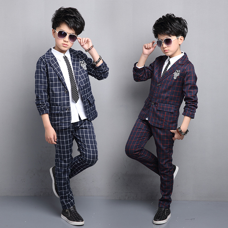 High quality childrens clothing autumn childrens checkered suits in the childrens suits boys suit children suits<br>