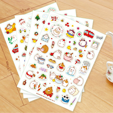 6 pcs/pack Cute Season 3 Molang Rabbit Decorative Sticker Diary Album Label Sticker DIY Scrapbooking Stationery Stickers Escolar(China)