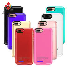 For Iphone X 8 7 6s 6 Plus battery case Portable Back Up Power Bank case For Iphone 8 7 x 6 External Battery Charger Case cover(China)