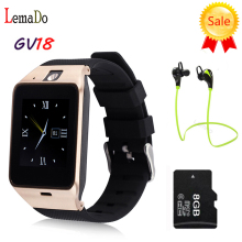 Lemado GV18 Smart Watch Aplus Clock Sync Notifier Support TF SIM Card Bluetooth Smartwatch for Samsung gear s1 s2 Android Phone