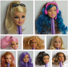 Free Shipping,Girl Birthday Gift 10pcs original doll heads doll accessories  For Barbie Doll
