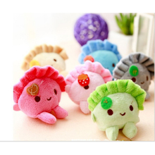Kawaii 6CM Dumplings Plush Key chain DOLL Plush Stuffed TOY DOLL Pendant TOY Wedding Bouquet Gift DOLL