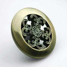 free shipping furniture handle knob carved European Round zinc alloy handle Shoe pull cabinet drawer door handel hardware part(China)