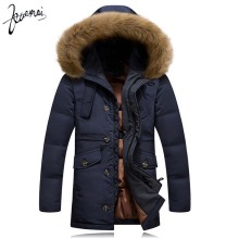KUAMAI 2016 Winter New Men Down Coat Brand Clothing With Fur Collar Casual Hooded Thick Warm Duck Down Jacket Men Anti-Snow
